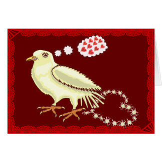 Funny Lovebird Valentine's Day Dove Greeting Card