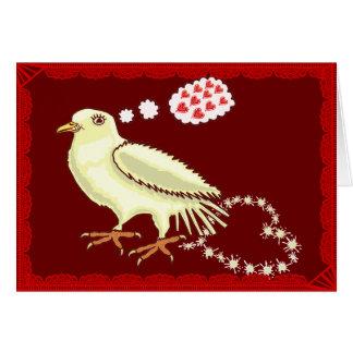 Funny Lovebird Valentine's Day Dove Card