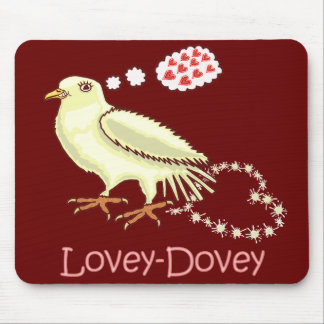 Funny Lovey-Dovey Valentine's Day Dove Mouse Pads