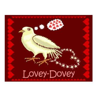 Funny Lovey-Dovey Valentine's Day Dove Postcard