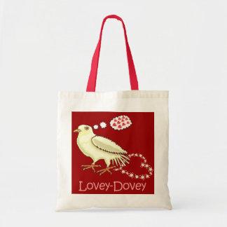 Funny Lovey-Dovey Valentine's Day Dove Tote Bag