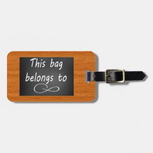 chalk luggage bag tags zazzle