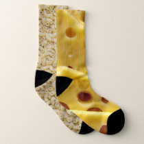 Funny Macaroni and Cheese Novelty Socks