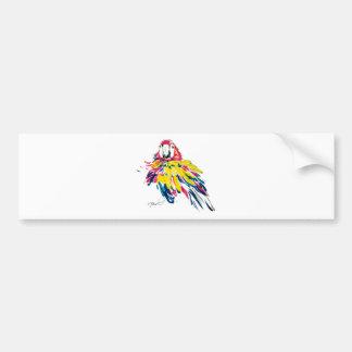 Funny Macaw Bumper Sticker