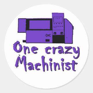 Funny Machinist Classic Round Sticker