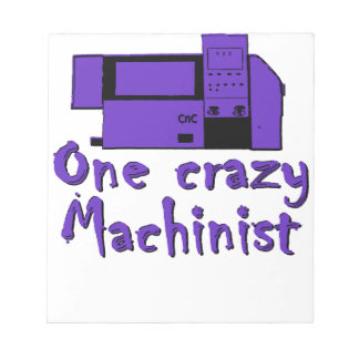 Funny Machinist Note Pad