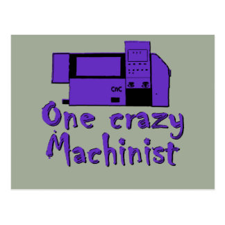 Funny Machinist Postcard