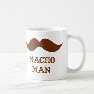 Funny Macho Man Mustache Mugs