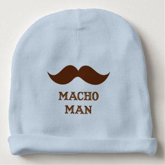 Funny Macho Man Mustache Baby Beanie