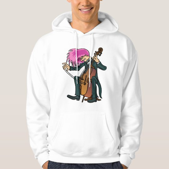Funny Mad Cellist Cello Hoodie