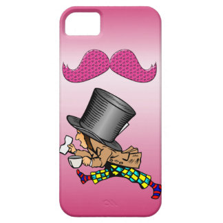 Funny Mad Hatter Hot Pink Mustache iPhone 5 Case