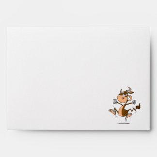 funny mad temper tantrum cow cartoon envelopes
