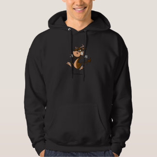 funny mad temper tantrum cow cartoon hooded pullover