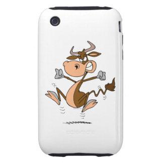 funny mad temper tantrum cow cartoon iPhone 3 tough case