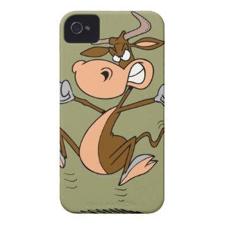 funny mad temper tantrum cow cartoon iPhone 4 Case-Mate case