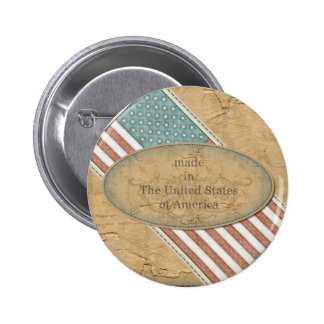 Funny Made in America Flag 2 Inch Round Button