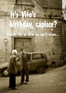 Funny Mafia Birthday Customizable Greeting Card