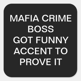 FUNNY MAFIA CRIME BOSS STICKERS