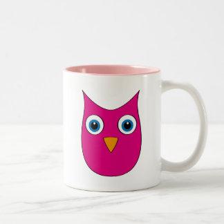 Funny Magenta Owl - Eyes wide open... Mugs