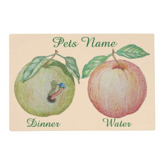 funny maggot red apple green apple original pet placemat