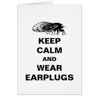 Funny Magicicada - Cicada Emergence - Keep Calm Card