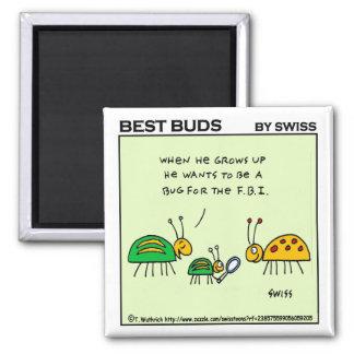Funny Magnet With Ladybugs For Gardeners