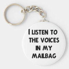 Funny Mail Carrier T-shirts And Gifts Keychain at Zazzle