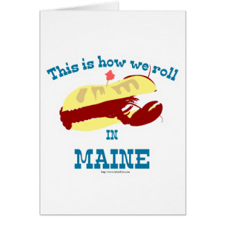 Funny Maine Lobster Roll Card