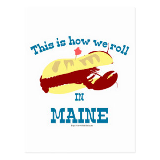 Funny Maine Lobster Roll Postcard