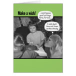 Funny Make a Wish Vintage 50's Photo Greeting Card