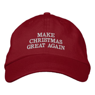 Funny Make Christmas Great Again Hats Embroidered Hat