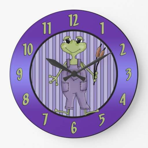 Funny Male Frog Wall Clock