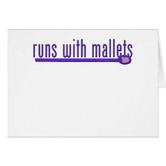 Funny Mallet Card