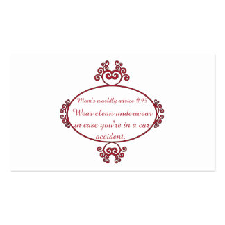 Funny Mama quotes on t-shirts & gifts for her. Double-Sided Standard Business Cards (Pack Of 100)