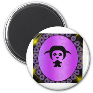 funny man 2 inch round magnet