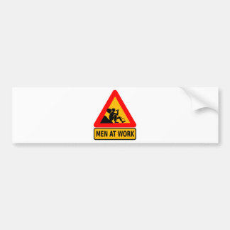 Funny Man at work sign Bumper Sticker