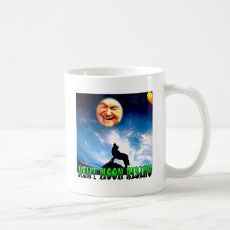 "Funny Man in the Moon Mug: ""Newt Moon Rising"" Coffee Mug"