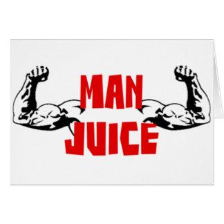 Funny Man Juice Card