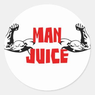 Funny Man Juice Classic Round Sticker