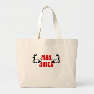 Funny Man Juice Large Tote Bag