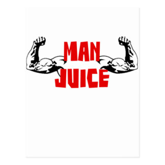 Funny Man Juice Postcard