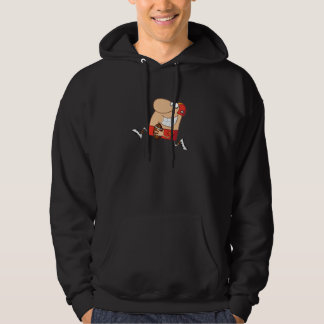 Funny Man Running with Football Hoodie