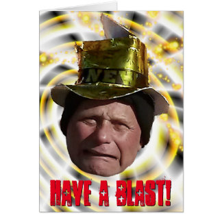 Funny Man with Party Hat New Year Card