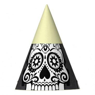 Halloween Themed funny Mandala Skull Party Hat