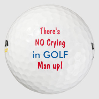Funny Manly Theme Pack Of Golf Balls