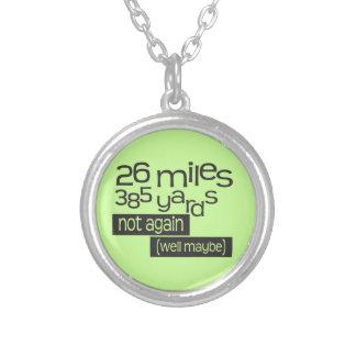 Funny Marathon 26 miles 385 yards Custom Necklace