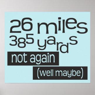 Funny Marathon 26 miles 385 yards © Poster