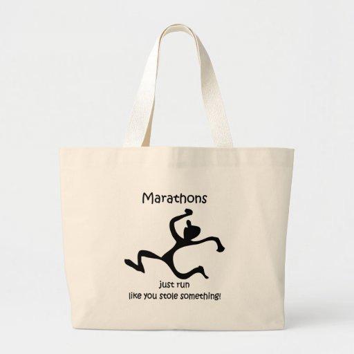 Funny marathon canvas bag