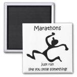Funny marathon fridge magnets