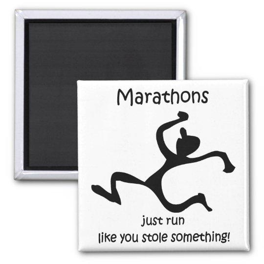 Funny marathon magnet